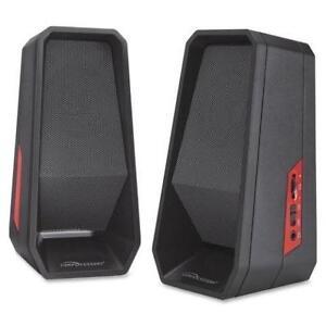 Compucessory Speaker System -4 W RMS -Black -USB 2/set