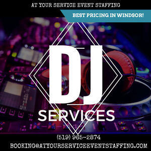 DJ SERVICES FOR ALL PARTIES GUARANTEED TO BEAT ALL PRICING