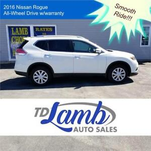 2016 Nissan Rogue Crossover $136 bi-weekly +Cash Back!!
