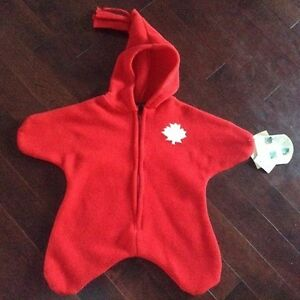 Fleece Suit - New with tags - 0-6 months - made in Canada