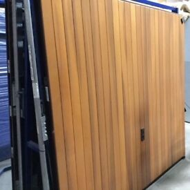 Garage Door Cedar Vertical Rib Retractable unframed 7066