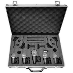PylePro (PDKM7) 7 Microphone Wired Drum Kit with Carry Case & Mounting Accessories