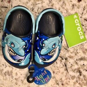 Size 7 Light-up Toddler Crocs, brand new with tags on