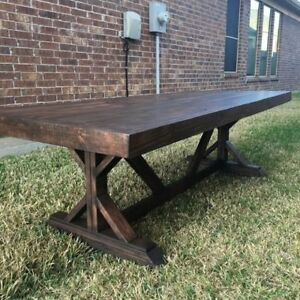 Custom rustic Dining Benches and Tables
