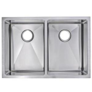 Small Radius Hand Mande Stainless Steel Sink - NEW -FREE GRIDS AND BASKET