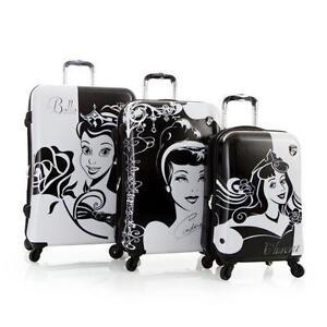 New Disney Hardside Princess Expandable Spinner 3 PCS Luggage Se