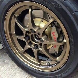 volk rays ce28 5x114 18x9 +28 offset new tires 225 40 18