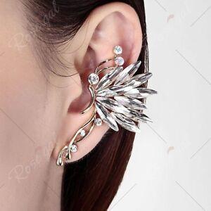 Faux Crystal Graceful Butterfly Ear Cuff