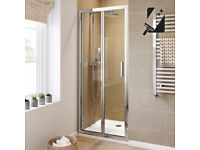 Bi-Fold shower door 800mm chrome
