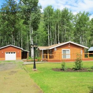 Hasler Flats, Chetwynd Area. Log Cabin FOR SALE