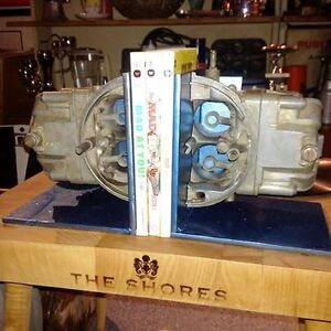 Vintage Holley Double Pumper Carburator Bookends