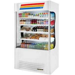 White Vertical Air Curtain Merchandiser Refrigerator w/LED Light *RESTAURANT EQUIPMENT PARTS SMALLWARES HOODS AND MORE*