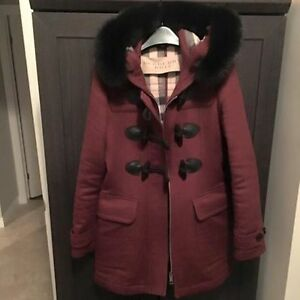 BRAND NEW! Iconic Burberry Womens Fitted Duffle Coat in