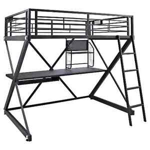 Loft bed with Table for adult