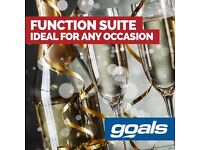 BOOK YOUR FUNCTION AT GOALS STAR CITY AND RECEIVE A FREE £50 BAR VOUCHER!