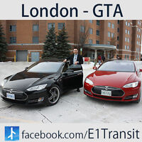 London to Pearson Airport / E1 Tesla Transit /Daily Ride Anytime