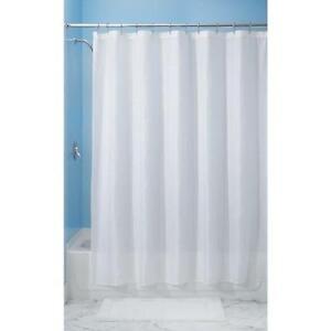 InterDesign Carlton Shower Curtain, 72 inch x 96 inch, White