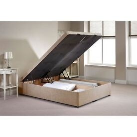 same day free delivery brandnew mink chenille ottoman double bed huge storage space solid base