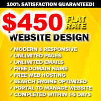 ✪ AFFORDABLE STUDENT WEB DESIGNER ✪ $450 PROFESSIONAL WEBSITE