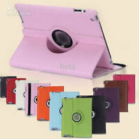 360 Degree Leather Case for ipad air 1 2 /ipad 4 3 2