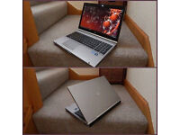 "Superfast silver aluminium HP EliteBook 15.6"" Intel Core i7 laptop. 8GB DDR3 RAM. 128GB SSD.."