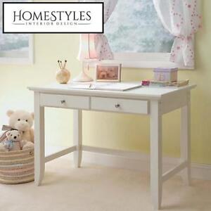NEW* HOMESTYLES NAPLES WRITING DESK 5530-16 232253250 42 inch x 30 inch x 24 inch Standard Writing Desk in White