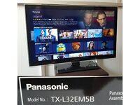 PANASONIC TX-L32EM5B 32 INCH ULTRA THIN HD 1080P LED TV