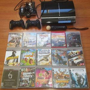 Playstation 3 cela vient avec 2 manettes 15 jeux et plus !