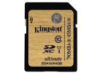 Kingston 128 GB SD XC Class 10 UHS-I Ultimate Flash Card x 3