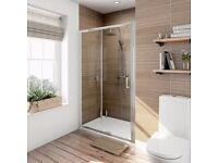 Victoria plum shower sliding door 1100mm brand new