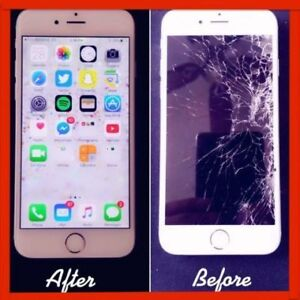 Repair Broken/Crack IPad & iPhone 5/6/6+/6s/6s+/7/7+/8 LCD - $35