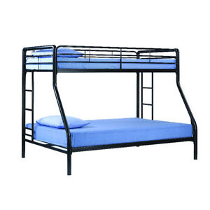 TWIN OVER FULL ELEGANCE METAL BUNK BED ON CLEARANCE