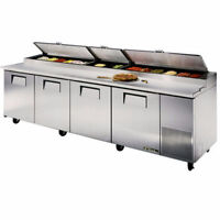 Four door refrigerated prep table