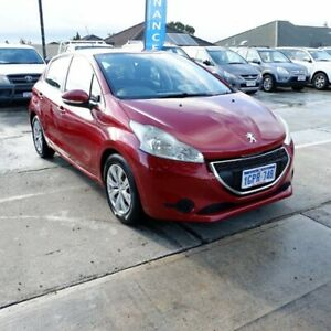 2013 Peugeot 208 A9 MY13 Active Red 4 Speed Automatic Hatchback St James Victoria Park Area Preview