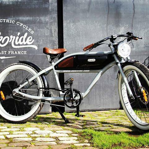 T4B GREASER Cafe Racer Style Electric Bike Bicycle 350W ...
