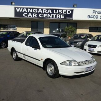 2001 Ford Falcon Auii XL White 4 Speed Automatic Utility