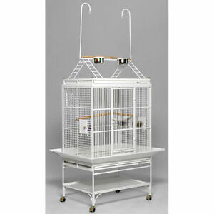 Large  bird cage -deluxe,  white, powder coated