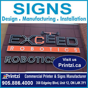 Custom Signs Manufacturing, Indoor and Outdoor signs