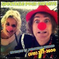 Clown pour garderie CPE école