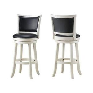 WOODEN COUNTER STOOL WITH LEATHER SEAT- FURNITURE WAREHOUSE SALE