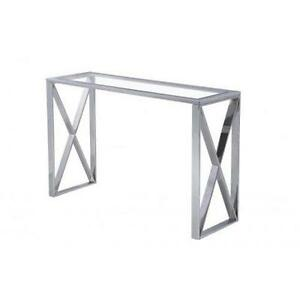 X-BASED GLASS CONSOLE TABLE- BEST PRICES ON ALL OUR FURNITURE