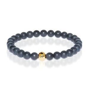 50% OFF All Jewellery - Growth | Gold Essence Matte Black Bracelet