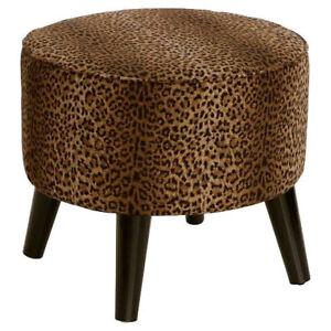 Cheetah Print Footstool