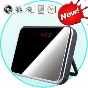 Camera Clock Mirror HD DVR Motion Detector Recorder Security
