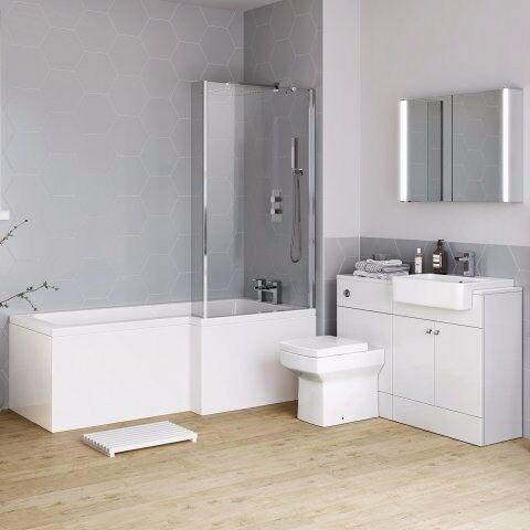1700mm Harper Right Hand Shower Bath - BATH ONLY
