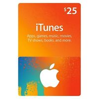 $25 iTunes giftcard