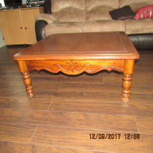 All wood coffee table refinished & Rocking Chair with foot stool