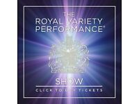 2 front stalls tickets, best seat in the house for Royal Variety Performance 2016