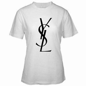 Ysl t shirt ebay for Authentic chanel logo t shirt