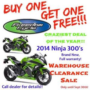 2014 Kawasaki Ninja 300 - BUY ONE, GET ONE FREE! FREEDOM CYCLE